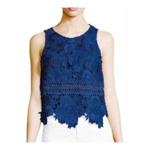 LOVERS + FRIENDS Blue Incense Lace Sleeveless Top